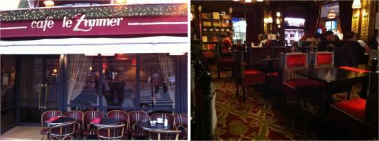 Café le Zimmer, place du Châtelet