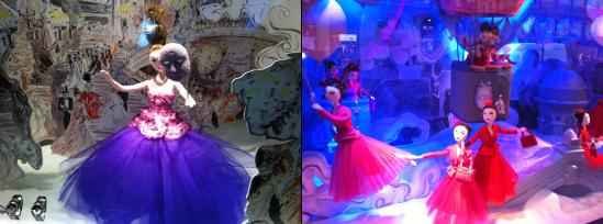 Marionnettes des vitrines Dior au Printemps Haussmann