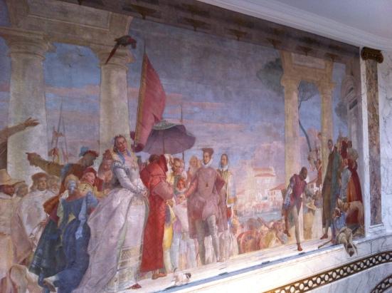 "'Henri III reçu à la Villa Contarini"", fresque de Tiepolo, 1745"