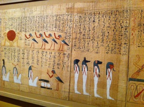 """Papyrus issu de l'exposition """"L'art du contour"""", Musée du Louvre"""
