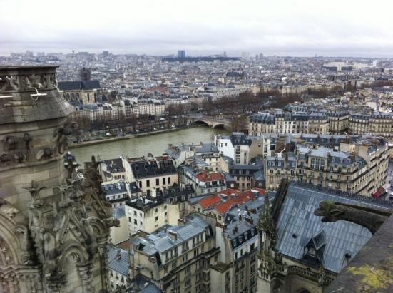 Vue des tours de Notre-Dame
