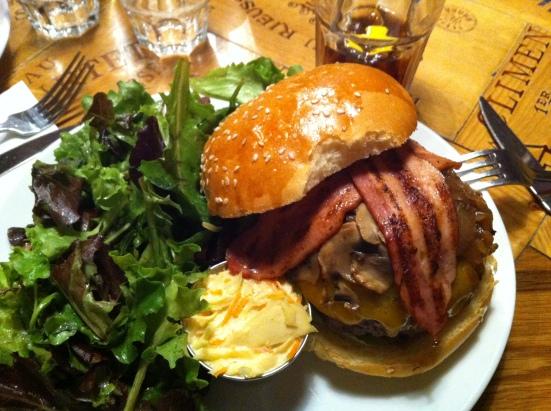 Yankee burger, Deli Swartz's, Paris