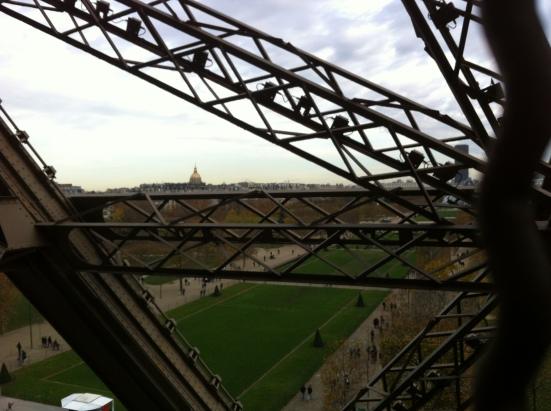 Le Champs de Mars vu depuis la Tour Eiffel