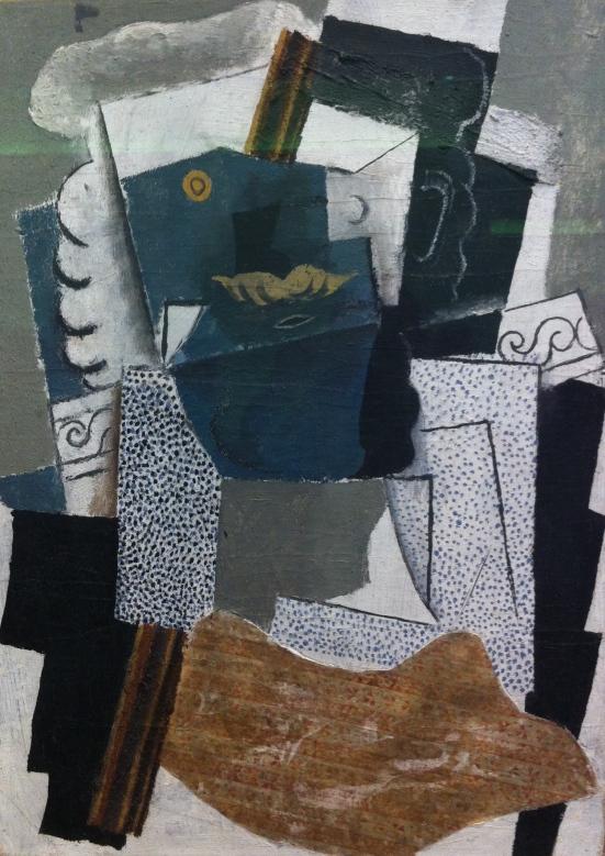 Homme à la moustache, Picasso, 1914