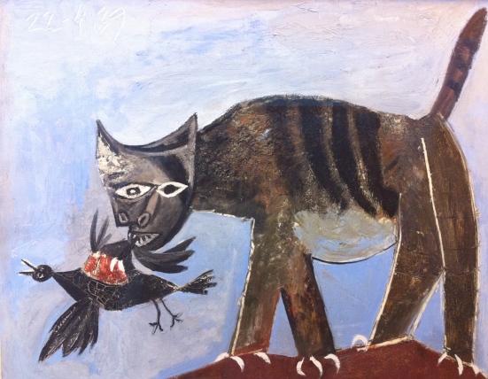 Chat saisissant un oiseau, Pablo Picasso, 1939