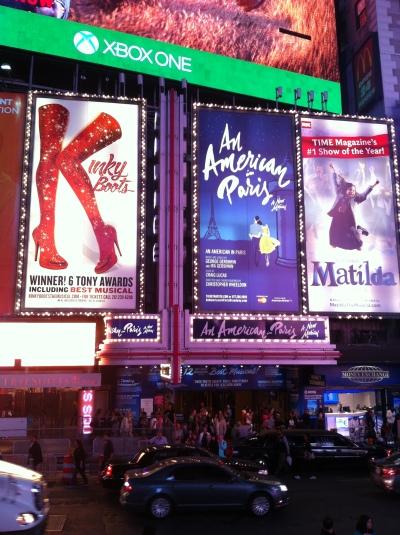 Un américain à Paris, Broadway, New-York