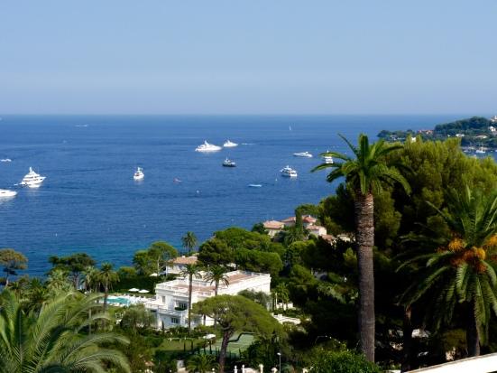 Vue sur la mer de la villa Ephrussi de Rothschild, Saint-Jean-Cap-Ferrat