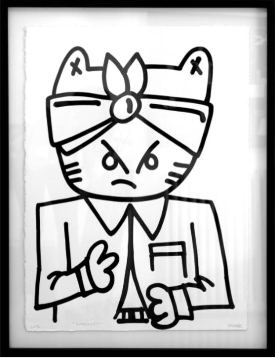 Ganstacat, Chanoir, 2015, acrylique sur papier