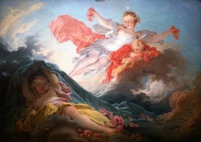 L'Aurore triomphant de la Nuit, Jean-Honoré Fragonard, huile sur toile vers 1755-1756