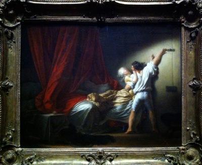 Le Verrou, Jean-Honoré Fragonard, huile sur toile vers 1777-1778