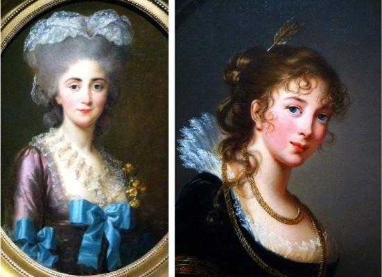 Madame Lesould, Vigée Le Brun, 1780, Huile sur toile // Frederike Dorothea Louise Philippine von Hohenzollern, princesse Radziwill, Vigée Le Brun, 1802, Huile sur toile