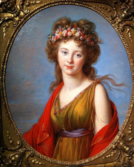 Anna Flora von Kageneck, Vigée Le Brun, 1792, Huile sur toile