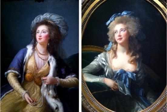 La comtesse Stanislas Marie-Adélaïde de Clermont-Tonnerre, Vigée Le Brun, 1785, Huile sur toile // Madame Grand, Vigée Le Brun, 1783, Huile sur toile