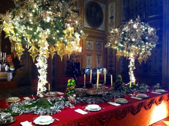 La table du réveillon, château de Vaux le Vicomte