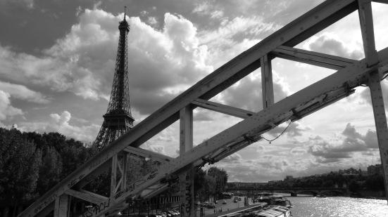 La tour Eiffel depuis la passerelle Debilly, Paris