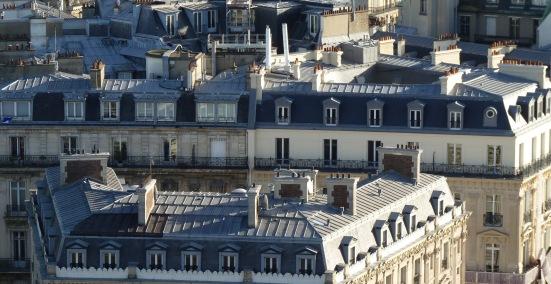 Les toits de Paris depuis l'Arc de Triomphe