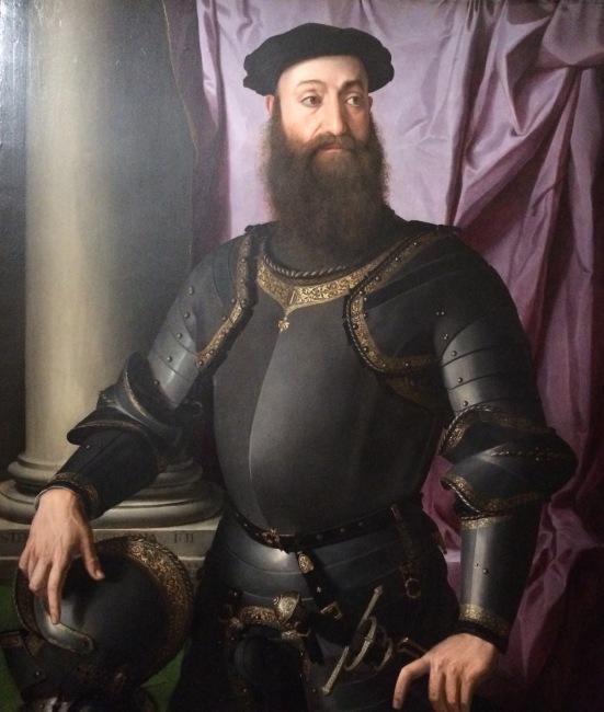 Portrait de Stefano Colonna, Bronzino, 1546, Huile sur bois