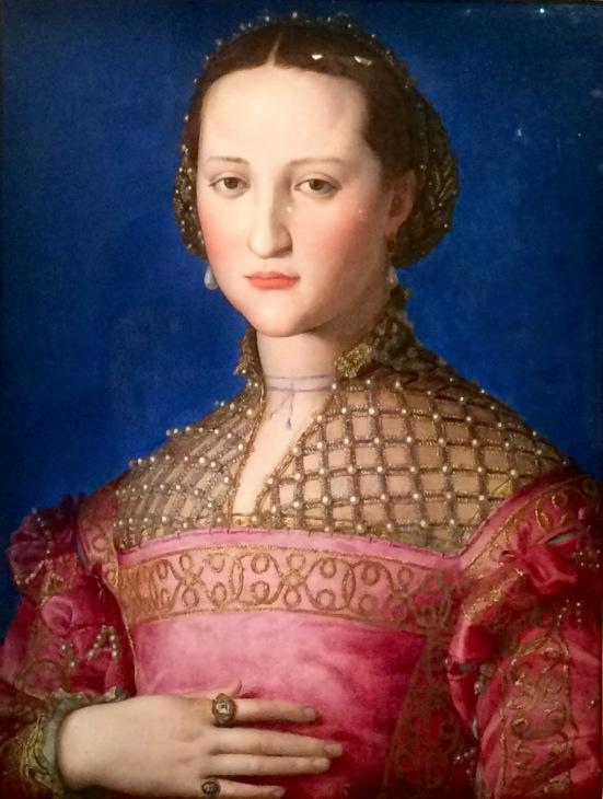Portrait d'Eleonore de Tolède, Bronzino, 1543, Huile sur bois