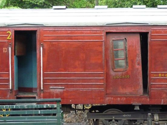 Vieux train bagages