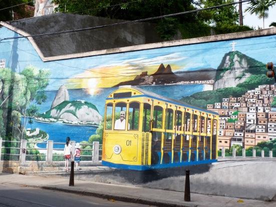 Fresque du tramway de Santa Teresa
