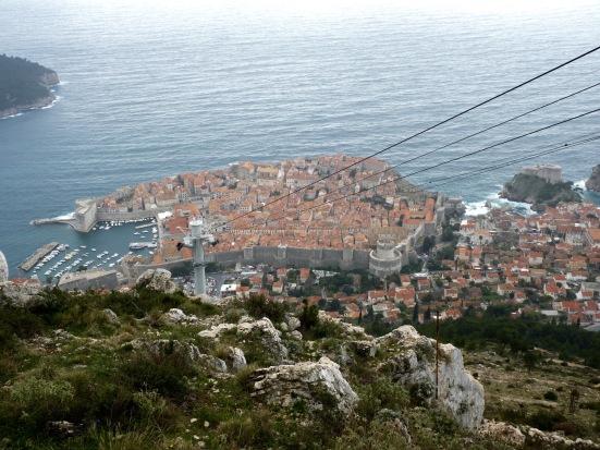 Dubrovnik, vue du Mont Srd