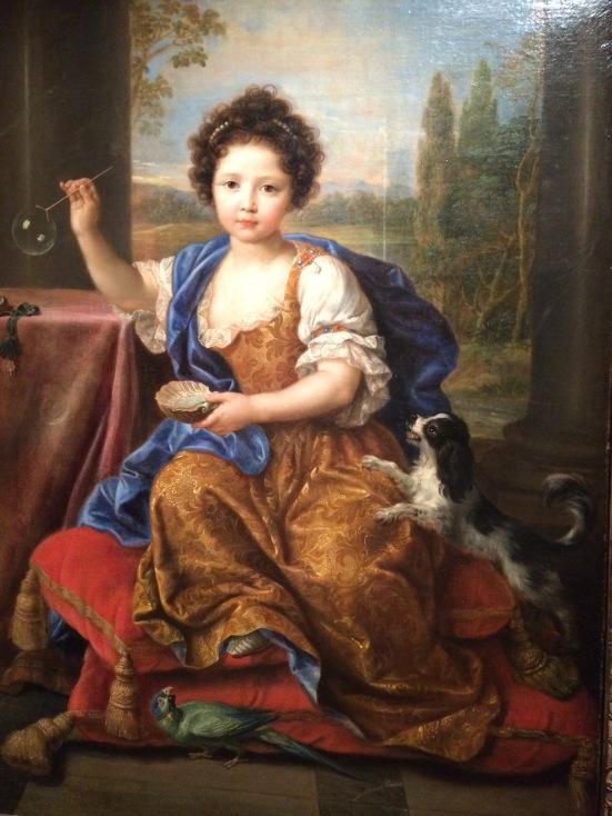 Louise Marie de Bourbon dite Mlle de Tours, vers 1681-1682, huile sur toile, Pierre Mignard
