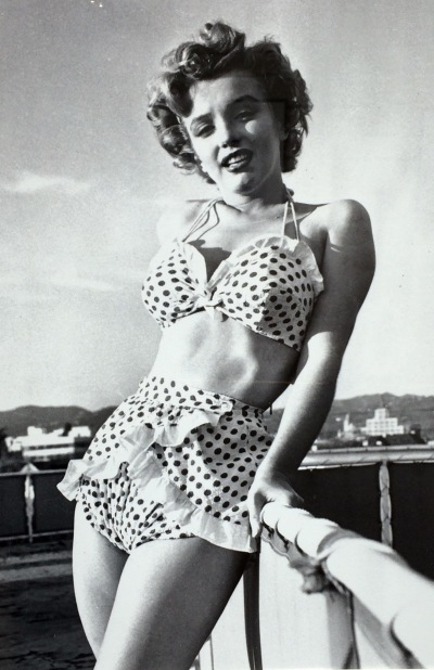 Marylin Monroe en bikini à pois, 1951