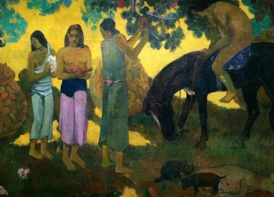 La cueillette des fruits, Paul Gauguin, Tahiti, Papeete, 1899, huile sur toile © barbaravousenditplus