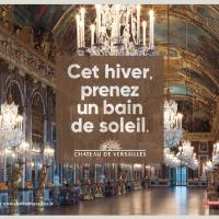 La campagne de pub d'hiver du château de Versailles