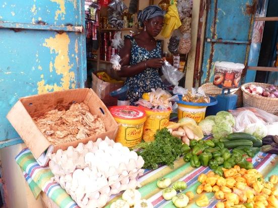 Le marché des femmes à Oussouye