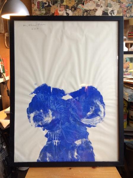 Blue Janes, gouache sur papier, 2007, Matthew Rose