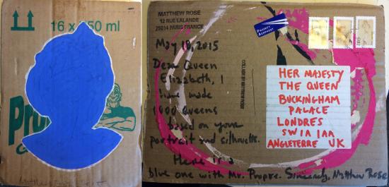 1000 Queens, Letter to HRH Queen Elisabeth, 2015, Matthew Rose