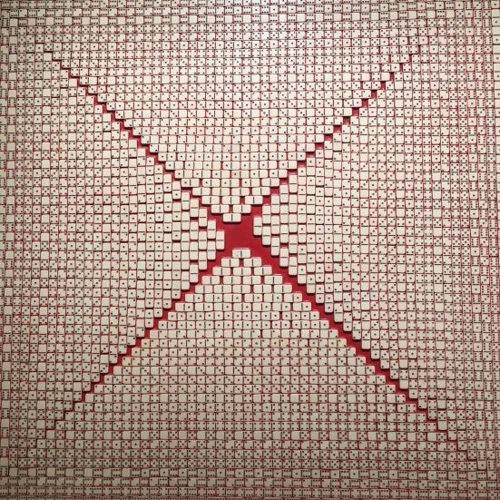Ruptura, José Patricio, 2002, Dominos contrecollés sur bois, Collection Fondation Cartier, Paris