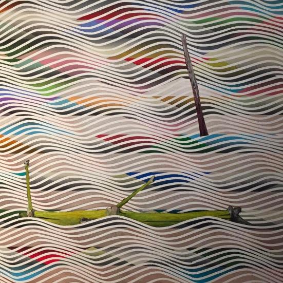 Bambu amarelo, Luiz Zerbini, 2016, acrylique sur toile, Collection privée, Madrid